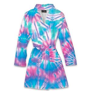 Tie Dye Pastel Ice Fuzzy Robe