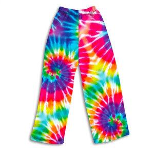 Tie Dye Brights Fuzzy Pants