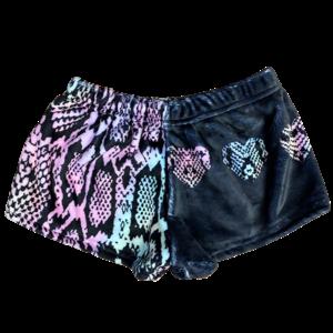 Pastel Snake Skin Fuzzy Shorts