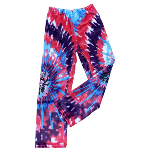 New Tie Dye Fuzzy Pants