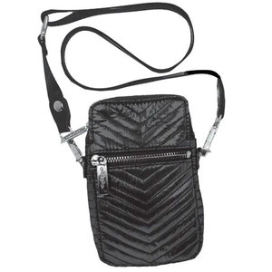Black Chevron Little Bag