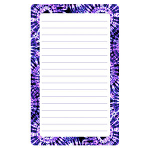 Purple Swirl Lined Notepad