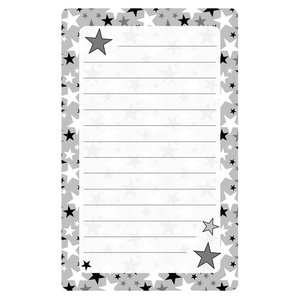 Silver Stars Lined Notepad