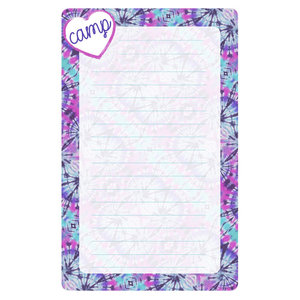 Purple and Pink Tie Dye Lined Notepad