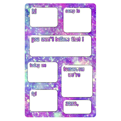 Stardust Fill-In Notepad