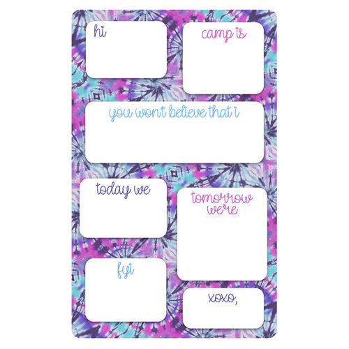 Purple and Pink Tie Dye Fill-In Notepad
