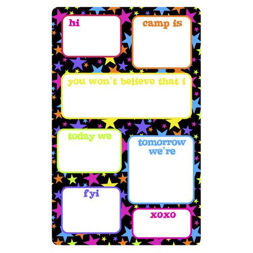 Neon Stars Fill-In Notepad