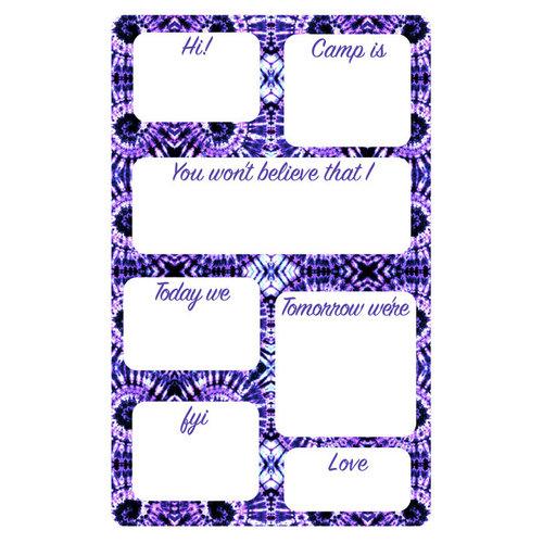 Purple Swirl Fill-In Notepad