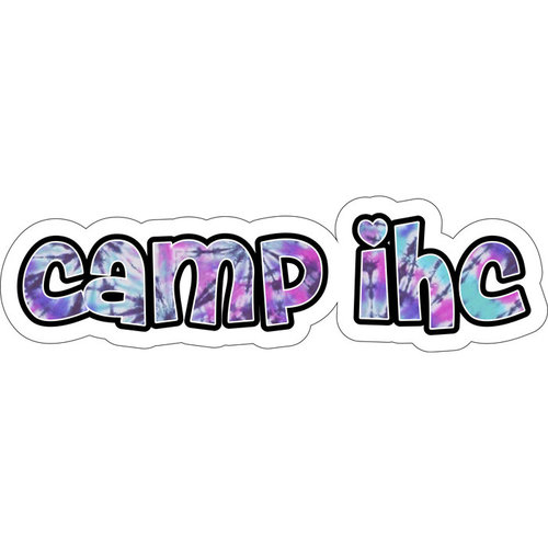 Tie Dye Camp Name Cling Its