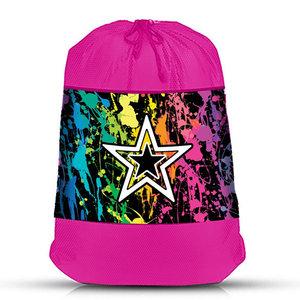 Splatter Star Mesh Laundry Bag