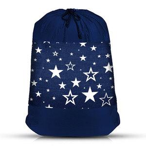 Denim Star Mesh Laundry Bag