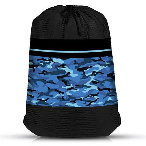 Blue Camo Mesh Laundry Bag