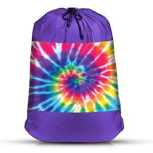 Rainbow Tie Dye Mesh Laundry Bag