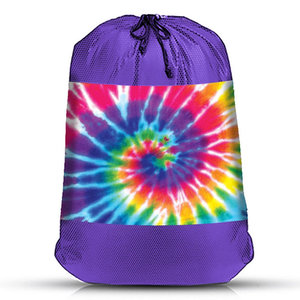 Rainbow Tie Dye Mesh Sock Bag