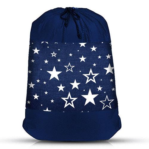 Denim Star Mesh Sock Bag