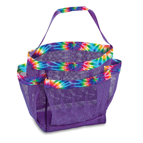 Rainbow Tie Dye Mesh Shower Caddy