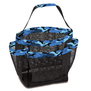 Blue Camo Mesh Shower Caddy