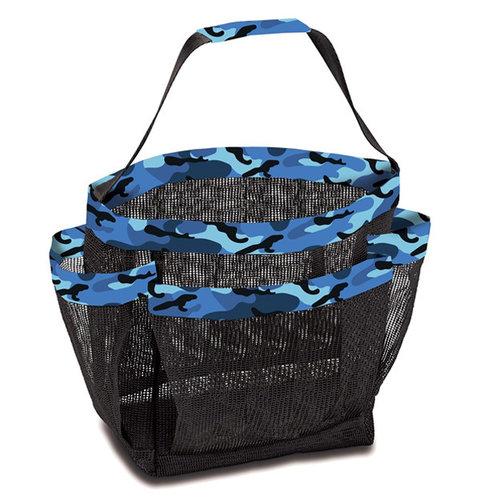 Blue Camo Mesh Shower Caddy