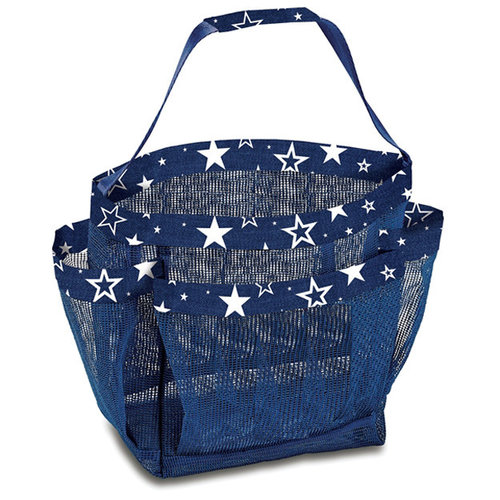 Denim Star Mesh Shower Caddy