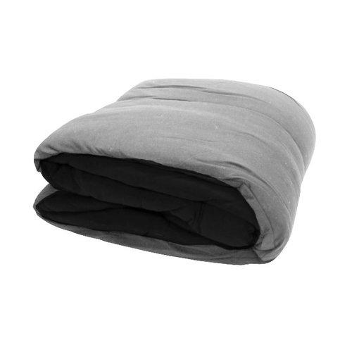Reversible Gray/Black Jersey Comforter