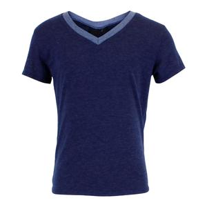Heather Navy Firehouse V-Neck T-Shirt