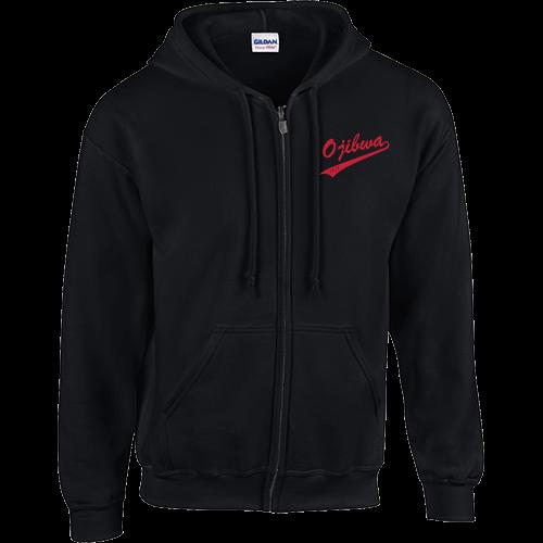 Camp Ojibwa Black Zip-Up Sweatshirt