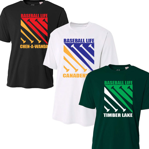 Baseball Life Camp Performance T-Shirt