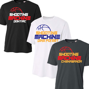 Basketball Shooting Machine Camp Performance T-Shirt