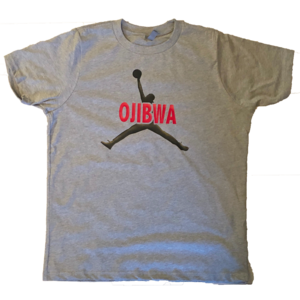 Camp Ojibwa Jump Man Cotton T-Shirt