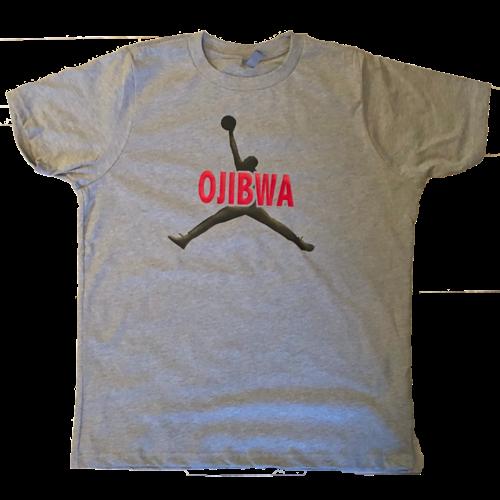 Camp Ojibwa Jump Man Cotton T-Shirt