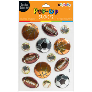 Sports Balls Pop Up Stickers