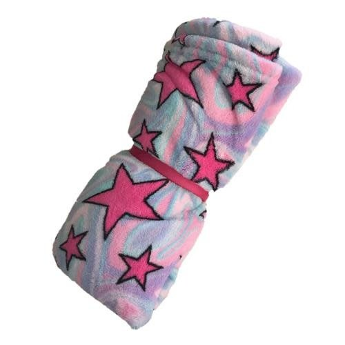 Swirly Stars Fuzzy Blanket