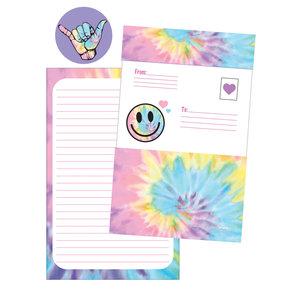 Pastel Tie Dye Foldover Cards