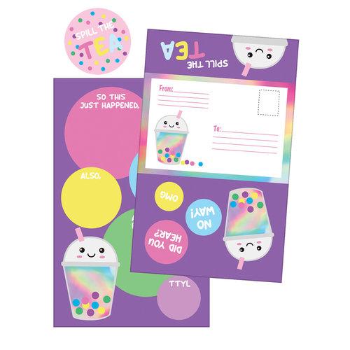 Bubble Tea Foldover Cards