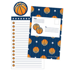 All Star Basketball Foldover Cards