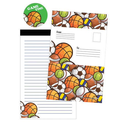 Sports Ball Game Time Foldover Cards