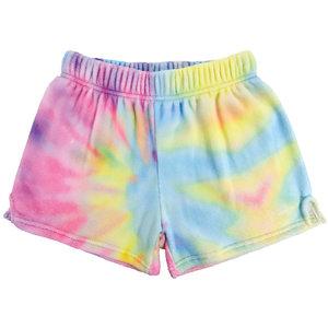 Pastel Tie Dye Fuzzy Shorts