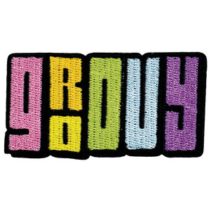 Retro Groovy Sticker Patch