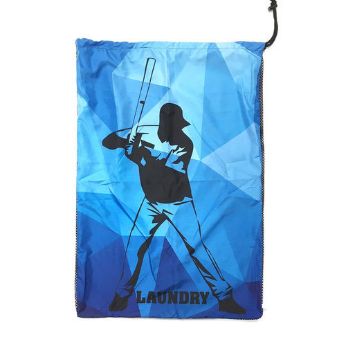 Baseball Kaleidoscope Mesh Laundry Bag