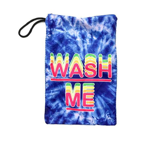 Blue Tie Dye Wash Me Sock Bag