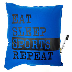 Eat. Sleep. Sports. Repeat Autograph Pillow