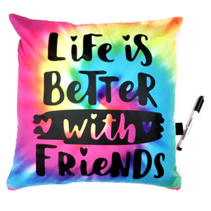 Life is Better with Friends Autograph Pillow