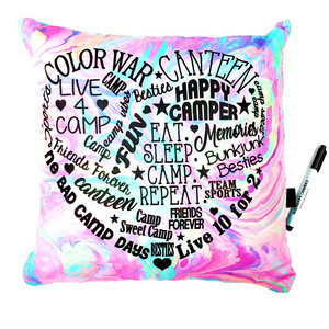 Graffiti Camp Heart Autograph Pillow