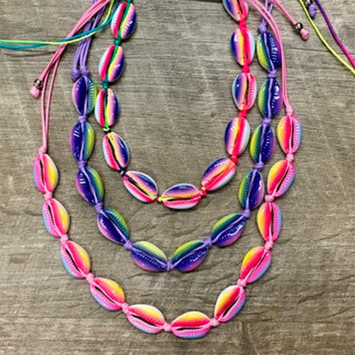 Tie Dye Shell Necklace