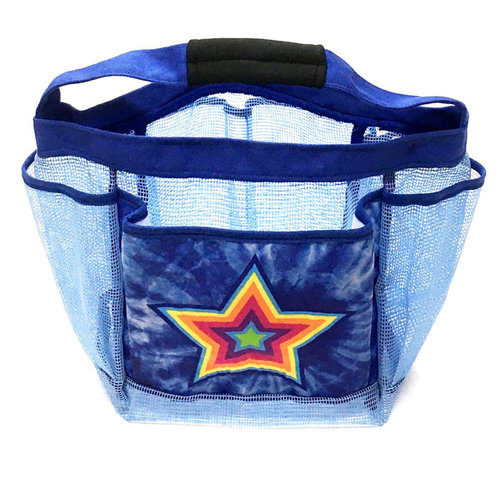 Blue Tie Dye Star Shower Caddy