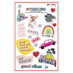 Good Vibes Vinyl Stickers