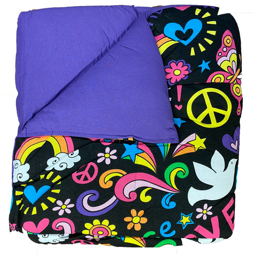 Reversible Purple/Black Groovy Jersey Comforter
