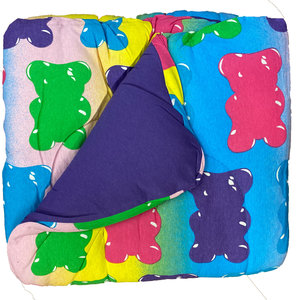 Reversible Purple/Gummy Bear Jersey Comforter