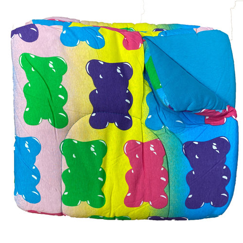 Reversible Turquoise/Gummy Bear Jersey Comforter