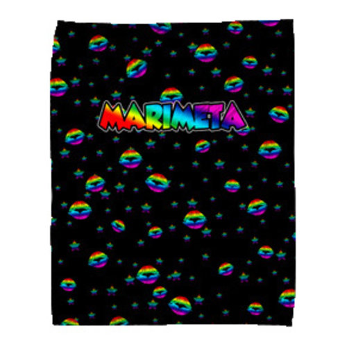 Camp Marimeta Rainbow Lips Fuzzy Throw Blanket